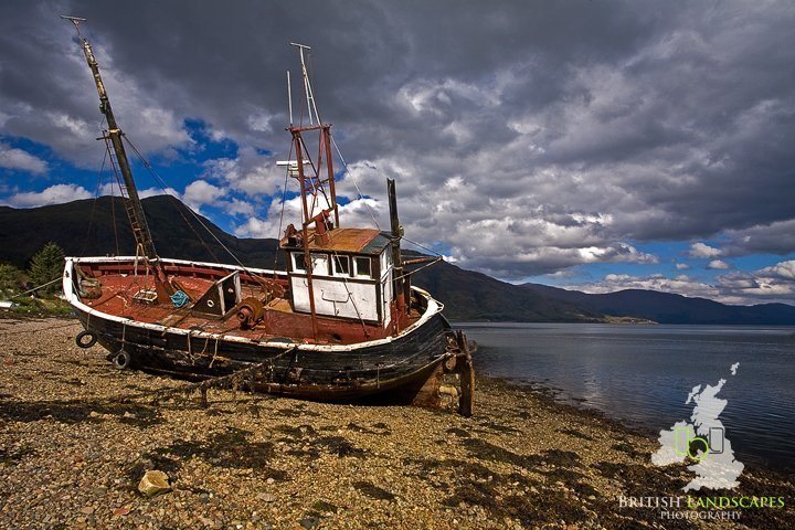"""""""Capri"""" is just one of Britain's Wonderful wrecks which rest on the shore of Loch Linnhe"""
